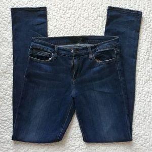 JOE'S JEANS dark wash straight leg jeans.